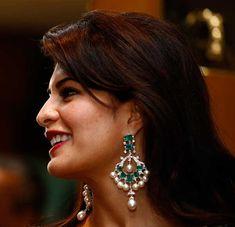 diamond emerald chandelier earrings - Google Search