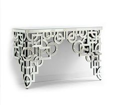 Volos Mirror Console Table, sharing luxury designer home decor inspirations and ideas for beautiful living rooms, dinning rooms, bedrooms & bathrooms inc furniture, chandeliers, table lamps, mirrors, art, vases, pillows & accessories courtesy of InStyle Decor Beverly Hills enjoy & happy pinning