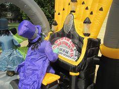 11 Foot Inflatable Airblown Zombie Organ Player Scene Halloween Yard Decor | eBay
