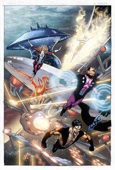 Star Trek Legion of superheroes 4 cover by romulofajardojr on deviantART