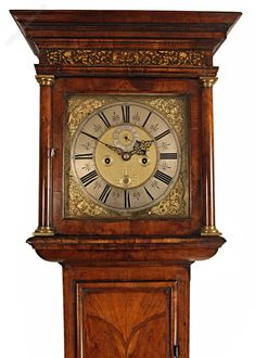 Antique Longcase Clocks, Rare Walnut Longcase Clock By Gretton Of London. A fine century walnut longcase clock by this eminent maker, made during the 'Golden Age' period of Clockmaking. Grandfather Clocks, 17th Century, English, London, Watches, Antiques, Wood, Clock, Antiquities