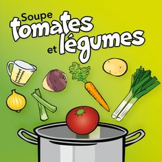 Ingredients 1 tablespoon ml) vegetable oil 1 cup ml) Spanish onions, cut into 1 cm cubes 1 clove garlic, finely chopped 796 ml can) of diced tomatoes 1 cup Soup Recipes, Great Recipes, Stone Soup, Vegan Soup, Garlic, Canning, Vegetables, Breakfast