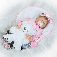 (173.84$)  Buy here - http://ai1nc.worlditems.win/all/product.php?id=32800920647 - 53cm Fashion Gifts Doll for Children Bedtime Toys with Bear Pacifier Lovely Dolls Soft Cotton High Quality Dolls Newborn