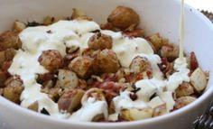 roasted new potato salad with bacon, garlic and rosemary