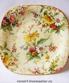 "Купить Тарелка ""Английский фарфор"" - тарелка, декоративная тарелка, украшение интерьера, англия, цветы, портрет"