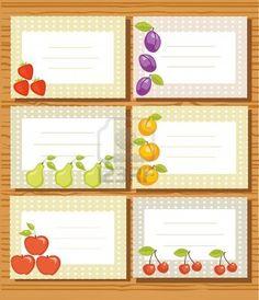 Illustrazione di etichette di frutta Archivio Fotografico