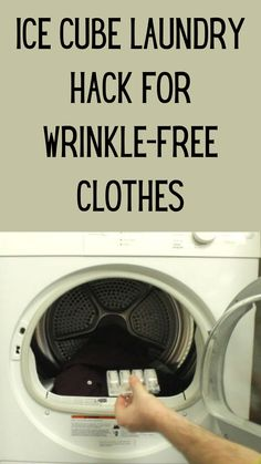 No one likes doing laundry - or ironing. So, make your life a little easier with this clever laundry hack. Toss some ice cubes in the dryer and make wrinkles a thing of the past. Laundry Dryer, Doing Laundry, Laundry Hacks, Laundry Room, Diy Home Crafts, Easy Diy Crafts, Aqua Blue, American Girl, Girl Life Hacks