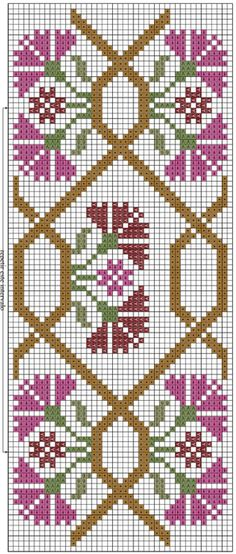 Flower stitch towel.  Scheme (3) (297x700, 318Kb)