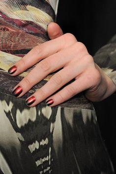 two toned nail art