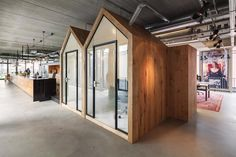 """d+z architecten + projectmanagers transformed a warehouse into an office space where the goal was to make it feel """"nicer than at home"""". Warehouse Office, Warehouse Design, Office Fit Out, Stylish Office, Industrial Office Design, Office Interior Design, Corporate Interiors, Office Interiors, Open Concept Office"""