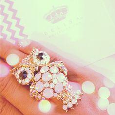 """Arabella"" Swarovski Owl Ring: Wowl."