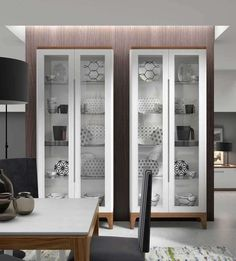 Dining Room Design, Dining Rooms, China Cabinets, Kitchen Cabinets, Interior Work, Interior Design, Crockery Cabinet, China Display, Design Moderne