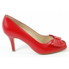 If only! Not a chance I could walk in them but ... but oh, if I could have when I was young!  Peter Kaiser Stella peep toe court shoes in red - classy, elegant and colourful shoes