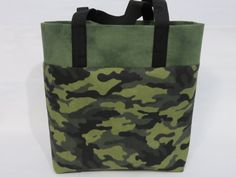 Camo Kids Tote Camo Library Bag Camo Book by MaryMagicalMemories