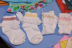 Smocked Socks by leetriplej, via Flickr