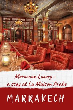 La Maison Arabe - a luxury hotel in Marrakech in the heart of the old city medina. We review what it's like to stay at La Maison Arabe with it's opulent rooms and suites, exotic poolside restaurant and piano bar. It's one of our favourite places to stay in Marrakech! #marrakech #marrakesh #hotel #riad #medina #restaurant #morocco #stay #travel #visit #guesthouse #bar #luxury