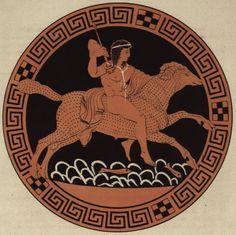 Phrixos und Chrysomallos. Reproduktion eines etruskischen rotfigurigen Vasenbildes im Besitz der Staatlichen Museen zu Berlin