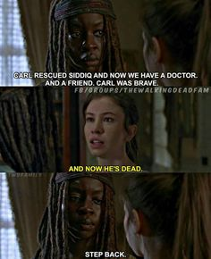 Michonne almost sliced that little girl.
