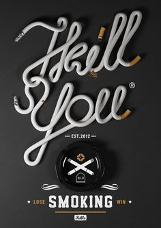Creative Typography & Design by Michal Sycz aka Noeeko, a freelance art director and graphic designer based in Warsaw, Poland. Creative Typography Design, Cool Typography, Typography Letters, Typography Poster, Creative Design, Letter Fonts, Creative Ideas, Design 3d, Game Design
