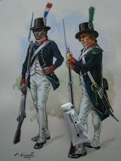French; Antilles National Guard, 1803 by P.Courcelle