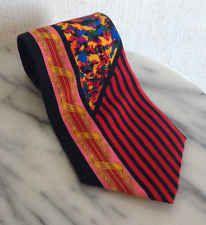 Rush Limbaugh No Boundaries Collection Silk Luxury Neck Tie Vtg Twist Red USA