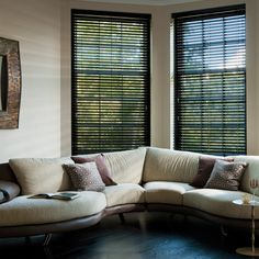 Our black colour wooden blinds are made from hardwood Ramin and sourced from sustained forest and our timber slatted wood blinds are meticulously prepared using only the finest quality timber. Each blind is custom made to size and comes complete with a matching wood valance, acorns and coordinating ladders or tape and we even colour match the end of the slat where it has been cut. Available in 25mm, 35mm and 50mm slat widths in a carefully selected array of shades.