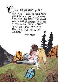 John Muir by Dick Vincent Illustration