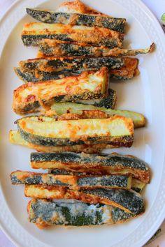 Gebackene Zucchini mit Parmesankruste