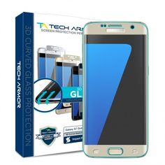 Make sure the entire screen of your Samsung Galaxy S7 is covered with our HD Clear 3D-Edge Ballistic Glass Screen Protector-Gold Version!