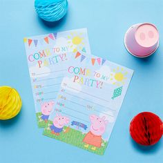 How to Throw the Ultimate Peppa Pig Party Pig Birthday, 3rd Birthday Parties, Birthday Party Invitations, Birthday Cards, Peppa Pig Wrapping Paper, Peppa Halloween, Peppa Pig Party Games, Airwalker Balloons, Party Packs
