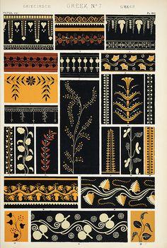 "greek patterns ""The Grammar of Ornament""., via Flickr."