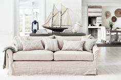 See and try out the gorgeous Neptune Long Island, loose-cover sofas and armchairs in realistic room settings in our extensive showrooms at Holloways. Sofa Set Online, Island Chairs, Large Sofa, Large Footstools, Small Armchairs, Luxury Sofa, Scatter Cushions, Living Room Furniture, Living Rooms