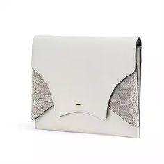 Mousse leather clutch fev by Francesca Versace