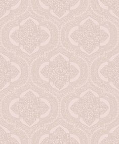 Damask by SK Filson - Rose Gold - Wallpaper : Wallpaper Direct Rose Gold Wallpaper, Damask Rose, Metallic Luster, True Colors, Delicate, Purple, Baby Room, Pattern, Silver