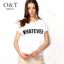 ownest2015 new women summer graphic letter printed funny tshirts tops for girls women s t shirt