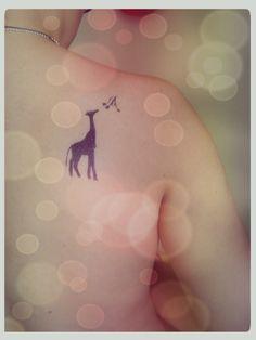 #giraffe #tattoo #girly #tattoos #ink