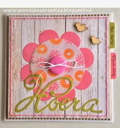 Marianne Design, Cas, Circles, Card Making, Happy Birthday, Stamp, How To Make, Image, Happy Brithday