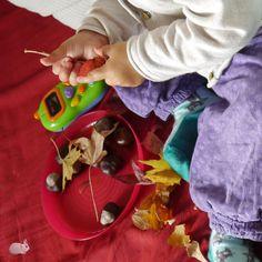 Herbstteller vom Kleinkind dekoriert ;)