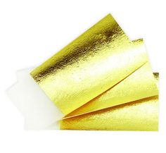 10 sheets of 100% PURE 24k GOLD LEAF EDIBLE 40mm x 40mm SHEETS CAKE BAKING CRAFTS - NOT on BASE!  ~ 100% feedback ; money-back guarantee ~  CAUTION! Beware of sellers advertising gold and silver leaf on base as pure and edible - it isnt! What this means is the leaf is layered (and vastly cheaper to produce), with genuine gold or silver on top and aluminium or copper underneath - you really dont want to eat that...  10 sheets of 100% genuine and pure loose edible 24k gold leaf sheets, with…