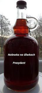 Czary mary gotuje Cezary: Nalewka na śliwkach Prezydent. Irish Cream, Whiskey Bottle, Food And Drink, Mead, Wine, Education, Syrup, Onderwijs, Learning