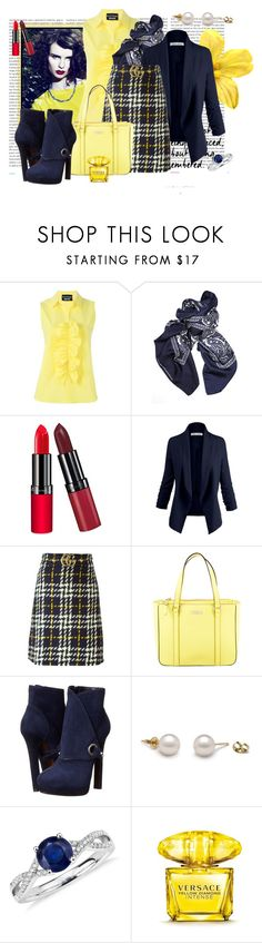 """""""Jaunâtre"""" by spells-and-skulls ❤ liked on Polyvore featuring Oris, Boutique Moschino, Balenciaga, Rimmel, Gucci, Kate Spade, Alexander McQueen, Blue Nile and Versace"""