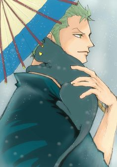 Roronoa Zoro with a black cat
