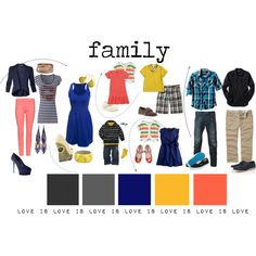 Outfit Ideas for families not afraid of color: Love is love edition