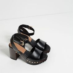 SANDALS WITH ANKLE STRAP AND TRACK SOLE from Zara