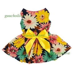 Fitwarm Pet Elegant Floral Ribbon Dog Dress Shirt Vest Sundress Clothes Apparel, Small ** You can find more details by visiting the image link. Small Dog Clothes, Puppy Clothes, Dog Shirt, Shirt Vest, Dress Shirt, Diy Dress, Dress Party, Floral Ribbon, Dog Clothes Patterns