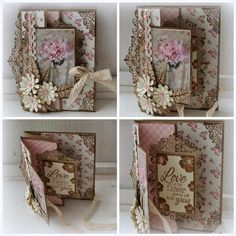 """Ineke""""s Creations: Love is the Flower . Fancy Fold Cards, Folded Cards, Card Making Inspiration, Making Ideas, Shabby Chic Cards, Interactive Cards, Shaped Cards, Beautiful Handmade Cards, Pop Up Cards"""