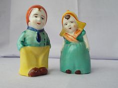 Vintage Dutch Couple Salt & Pepper Shakers Japan 3.25 Inches Tall VGC