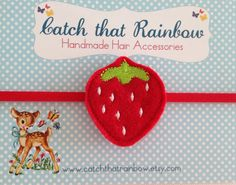 10% OFF Code. Red baby headband baby girl by catchthatrainbow