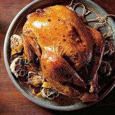 roast turkey with garlic, sage and orange  tacchino arrosto all'aglio, salvia e arancia con sugo