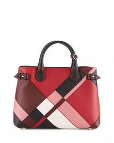 Banner Medium Patchwork House Check Tote Bag, Pink by Burberry at Neiman Marcus. Leather Purses, Leather Handbags, Burberry Handbags, Red Leather, Burberry Tote, Red Tote Bag, Tote Bags, Tote Purse, Tote Handbags